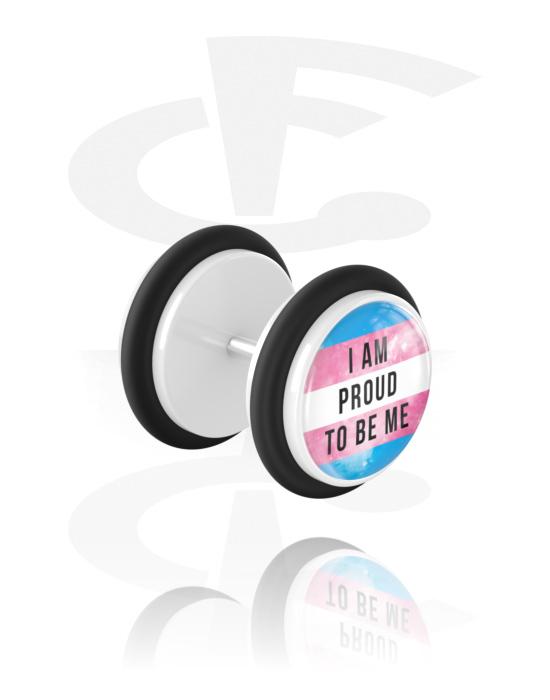 Feikkikorut, Fake plug kanssa Pride! Design, Akryyli, Kirurginteräs 316L