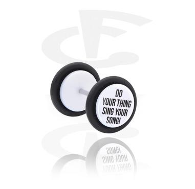 Fake Piercings, White Fake Plug, Acrylic
