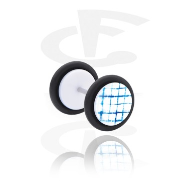 Fake plug con blauem Batik-Design
