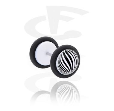 Fake Piercings, Falso plug con Ilusión óptica, Acrílico, Acero quirúrgico 316L