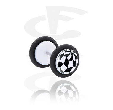 Fake Piercings, Fake plug with Optical Illusion, Acrylic, Surgical Steel 316L