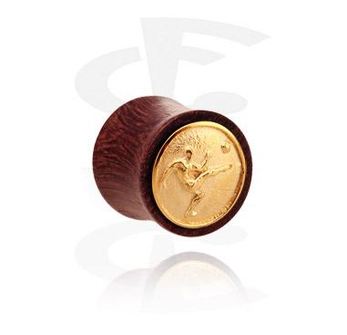 Double Flared Plug mit vergoldeter Stahleinlage
