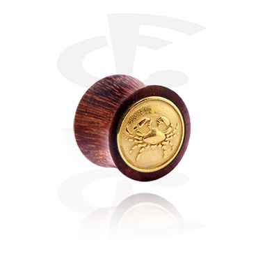 Tunely & plugy, Double Flared Plug with gold-plated Inlay, Wood