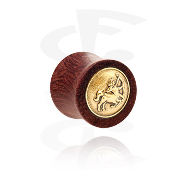 Double flared plug avec de l'acier plaqué or