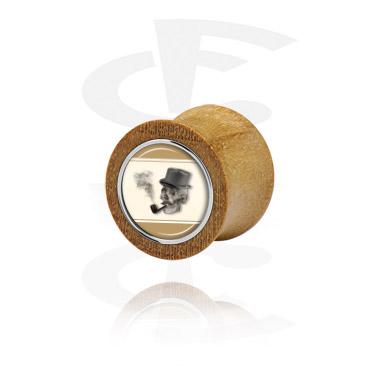 Double Flared Plug com aço incrustado