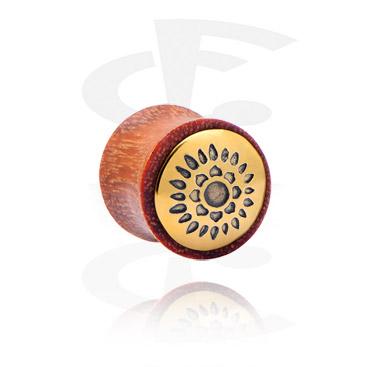 Double flared plug con inserto in acciaio dorato