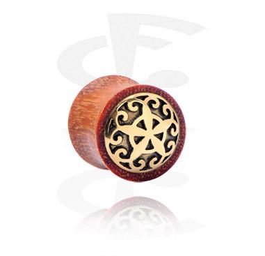 Double flared-plugi, jossa kullattu koriste