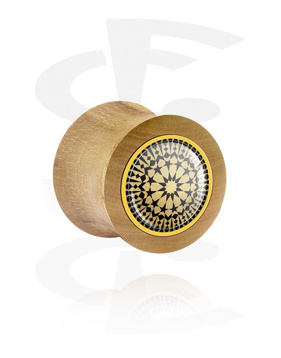 Tunely & plugy, Double Flared Plug, Bukové dřevo
