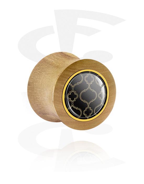 Tunnel & Plug, Double flared plug, Legno di faggio