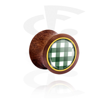 Double Flared Plug with traditional checkered design