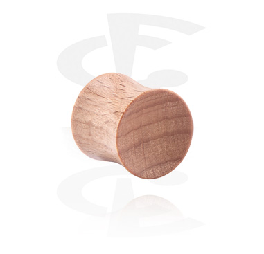 Tunnels & Plugs, Double Flared Plug, Wood