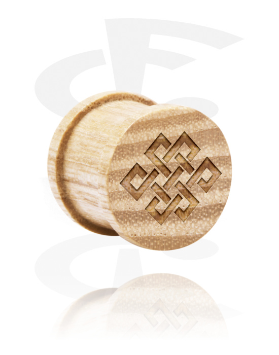 Tunely & plugy, Ribbed Plug s Laser Engraving, Dřevo