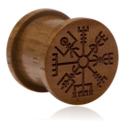 Tunely & plugy, Ribbed Plug s Laser Engraving, Wood