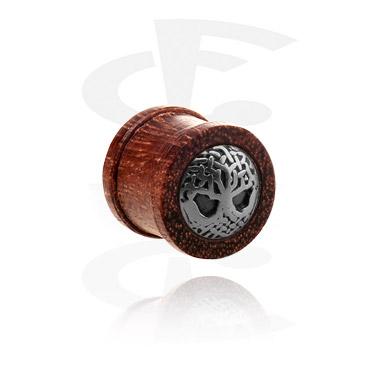 Ribbed plug con intarsio in acciaio