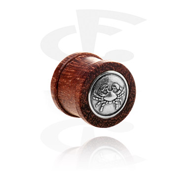 Tunely & plugy, Ribbed Plug with Steel Inlay, Wood