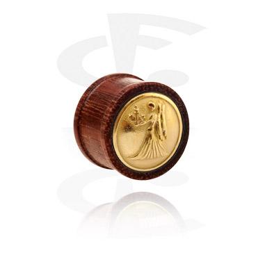 Ribbed plug avec de l'acier plaqué or