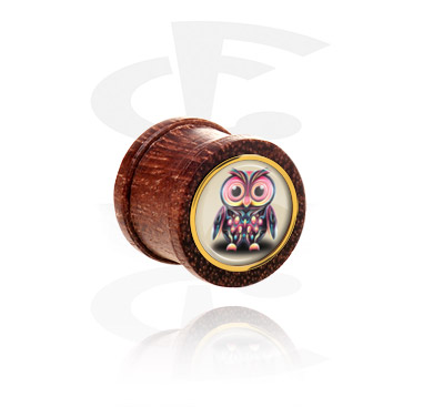 Tunnels & Plugs, Ribbed Plug, Mahogany
