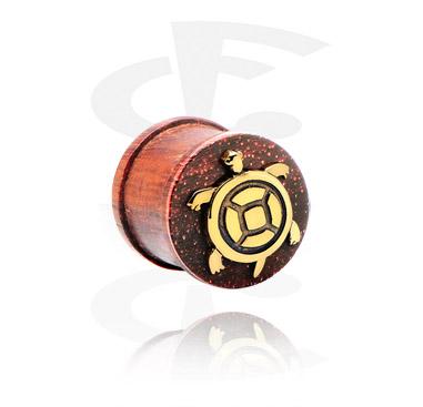 Ribbed Plug com aço incrustado banhado a ouro