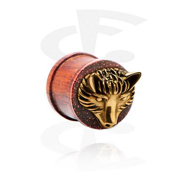 Ribbed-plugi, jossa kullattu koriste