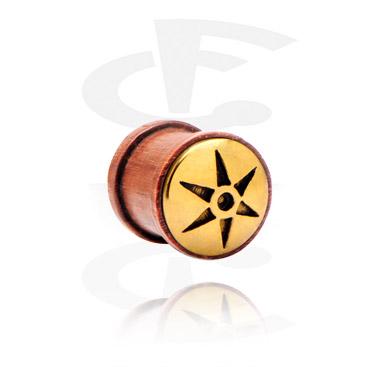 Ribbed plug con inserto in acciaio dorato