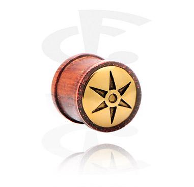 Ribbed plug avec incrustation en acier doré