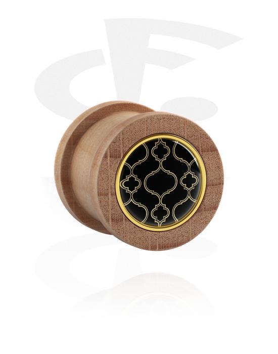 Tunely & plugy, Ribbed Plug, Bukové dřevo