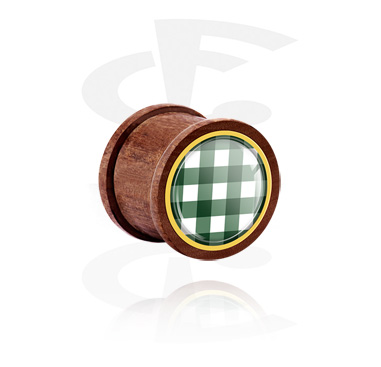 Ribbed Plug con traditional checkered design