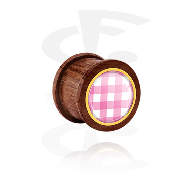 Ribbed Plug med traditional checkered design