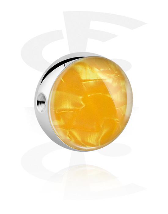 Kuličky, kolíčky a další, Kulička pro kroužek s kuličkovým uzávěrem s Mother Of Pearl Design, Chirurgická ocel 316L