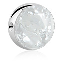 Balls & Replacement Ends, Ball for Ball Closure Ring with Mother Of Pearl Design, Surgical Steel 316L