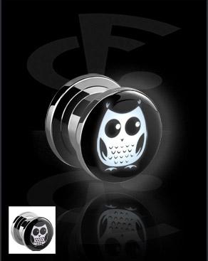 Tunele & plugi, LED Tunnel  z Owl Design, Surgical Steel 316L