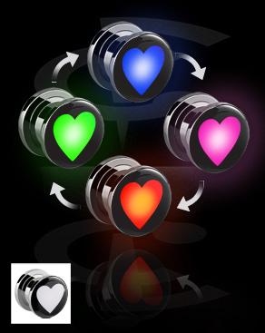LED Plug with Heart Motive