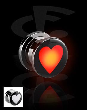 LED Plug mit Herz-Motiv