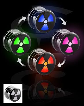 Плаг LED с радиоактивным символом