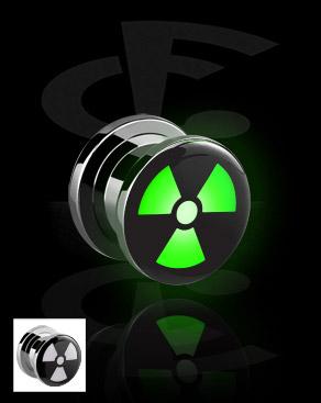 LED Plug met radioactief-symbool