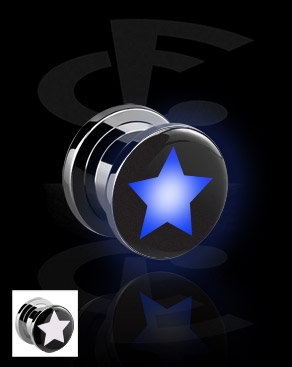 LED Plug mit Stern-Motiv