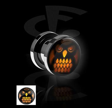 Tunele & plugi, LED Tunnel  z Halloween Design, Surgical Steel 316L