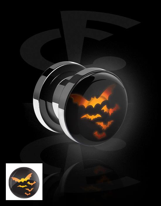 Tunnels & Plugs, LED Plug met Halloween Design, Chirurgisch staal 316L