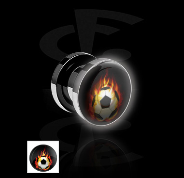 Tunnels & Plugs, LED Tunnel , Surgical Steel 316L