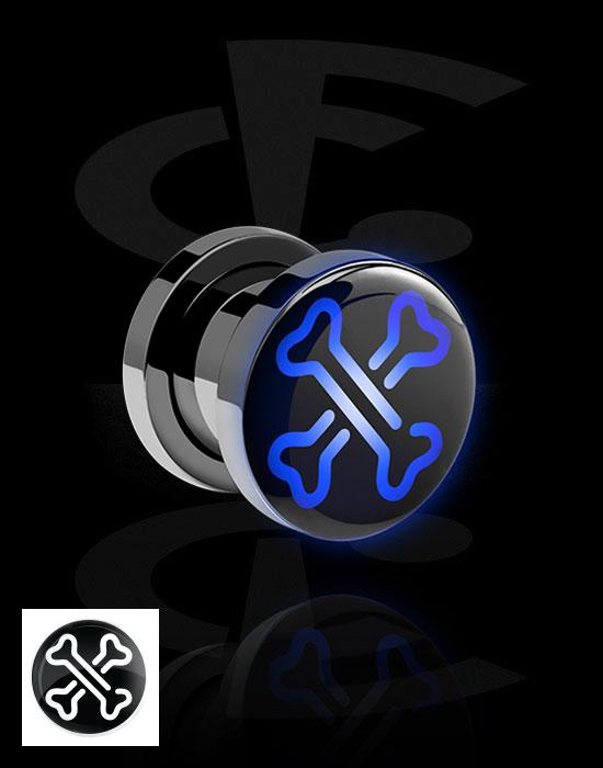 Tunely & plugy, LED Plug s Neon Halloween Design, Chirurgická ocel 316L