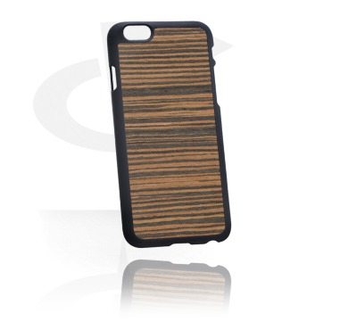 Mobile Case with Wooden Inlay