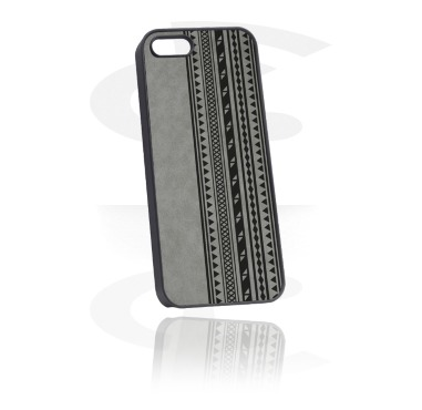 Capa de proteção de telemóvel com revestimento de couro