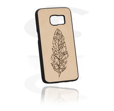 Etui na telefony, Mobile Case z Leather Inlay, Plastic, Imitation Leather