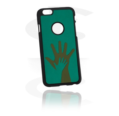 Чехол для телефона c вставкой из кожи