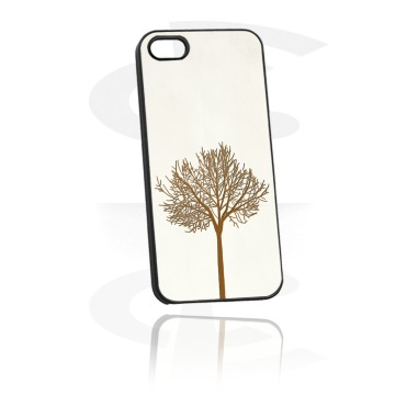 Mobile Case with Leather Inlay