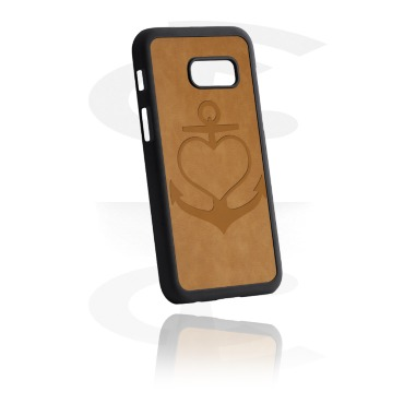 Mobile Case med Leather Inlay