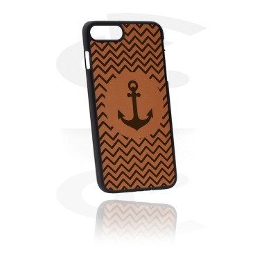 Etui na telefony, Mobile Case z Leather Inlay, Plastic, Imitation Leather