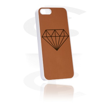 Phone case with leather inlay