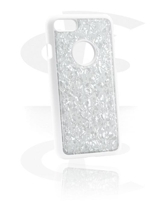 Handyhüllen, Handyhülle mit Perlmutt-Einlage, Kunststoff, Perlmuttimitation