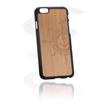 Capa de proteção para telemóvel com revestimento de madeira